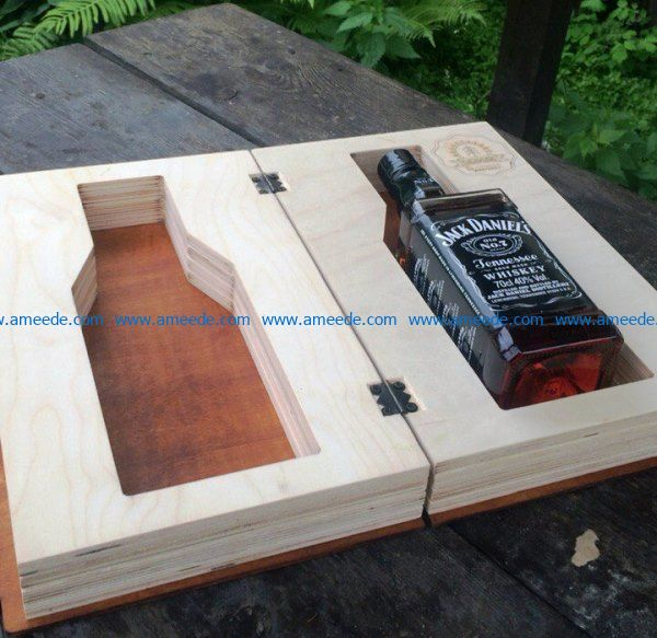 Whiskey box file cdr and dxf free vector download for Laser cut