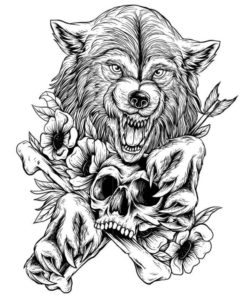 Wolf with brown head file cdr and dxf free vector download for laser engraving machines
