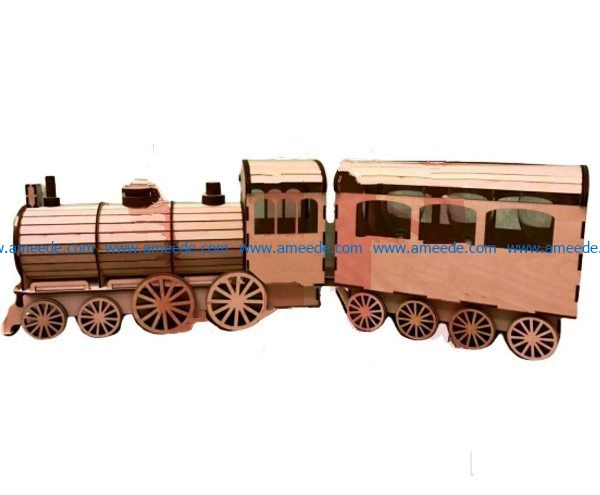 Wooden train model file cdr and dxf free vector download for Laser cut
