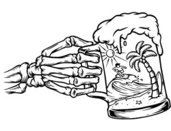 Zombie hand with beer mug file cdr and dxf free vector download for laser engraving machines