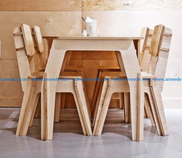bar tables chairs file cdr and dxf free vector download for Laser cut