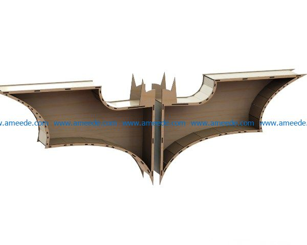 batman shelf file cdr and dxf free vector download for Laser cut