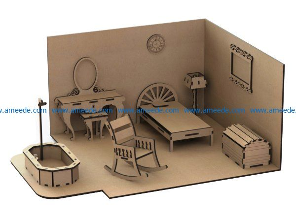 bedroom furniture file cdr and dxf free vector download for Laser cut