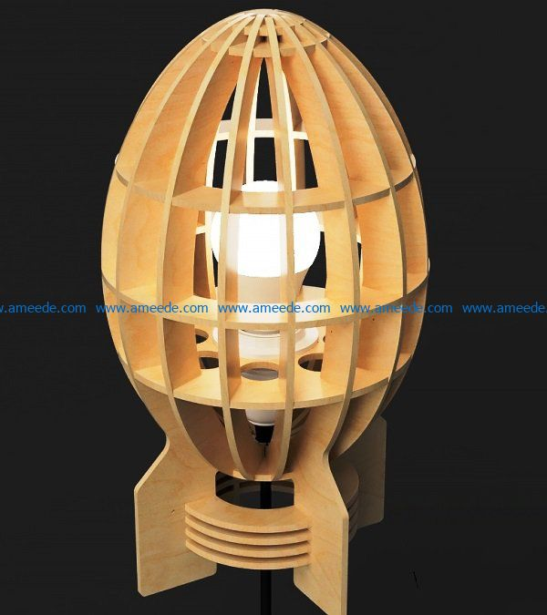bom lamp file cdr and dxf free vector download for Laser cut