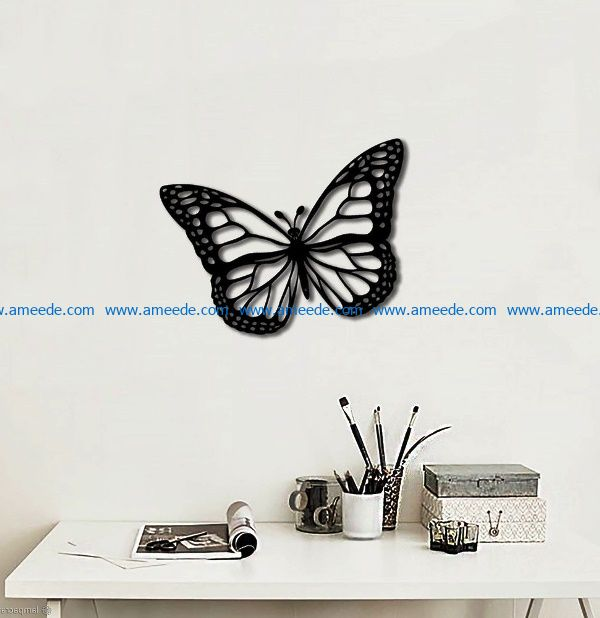 butterfly file cdr and dxf free vector download for Laser cut Plasma