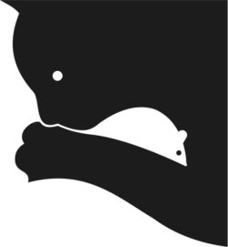 cat and mouse illusion file cdr and dxf free vector download for Laser cut