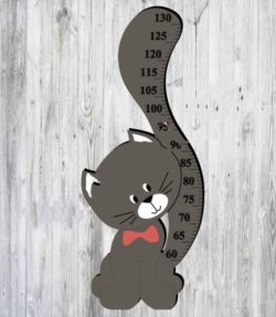 cat height ruler file cdr and dxf free vector download for Laser cut
