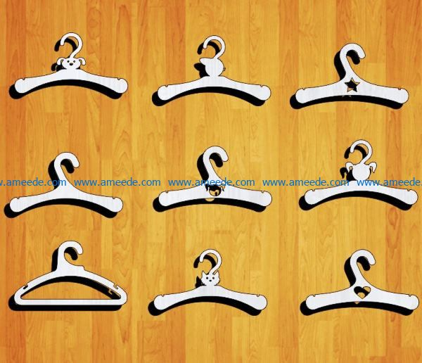 children's hangers file cdr and dxf free vector download for Laser cut