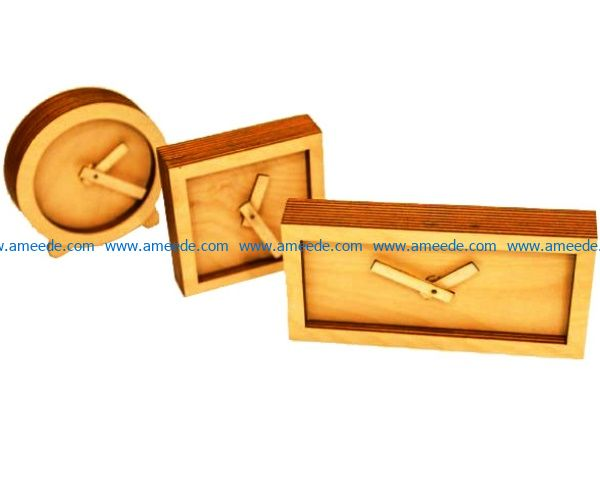 clocks shape file cdr and dxf free vector download for Laser cut