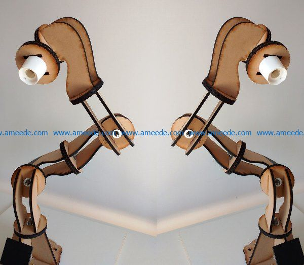 desk lamp design file cdr and dxf free vector download for Laser cut