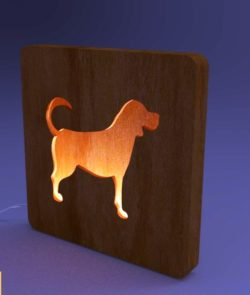 dogs night lights file cdr and dxf free vector download for Laser cut