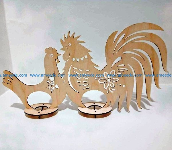 easter egg tray holder hen file cdr and dxf free vector download for Laser cut