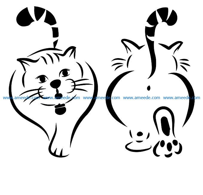 fat cat file cdr and dxf free vector download for Laser cut Plasma