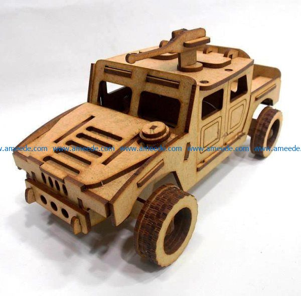 humvee file cdr and dxf free vector download for Laser cut