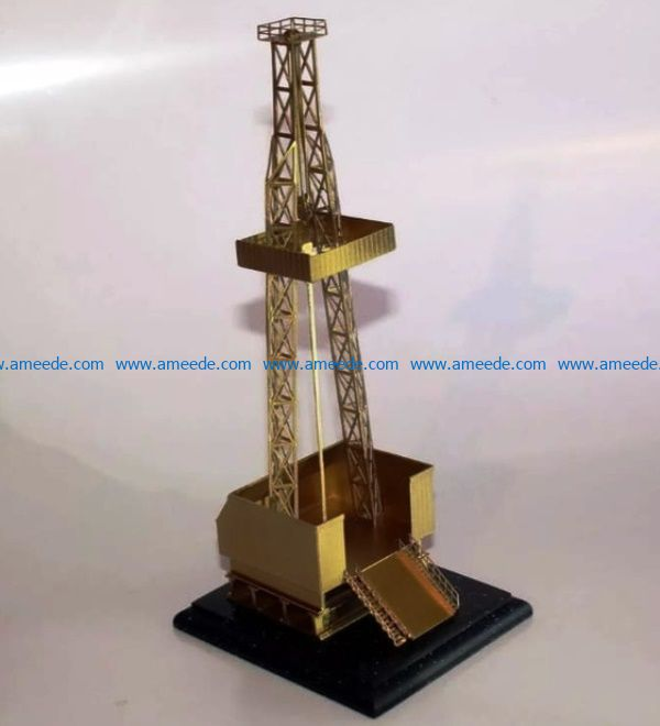 oil rig file cdr and dxf free vector download for Laser cut