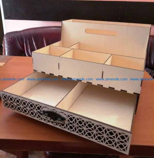 organizer three floors file cdr and dxf free vector download for Laser cut