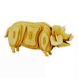 pig 3d puzzle file cdr and dxf free vector download for Laser cut