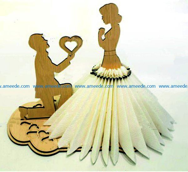 propose napkin holder file cdr and dxf free vector download for Laser cut
