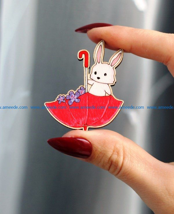 rabbit icon file cdr and dxf free vector download for Laser cut