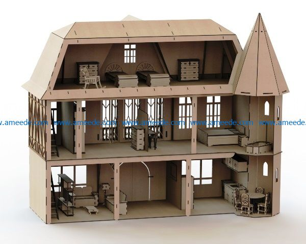 renan model house europe file cdr and dxf free vector download for Laser cut