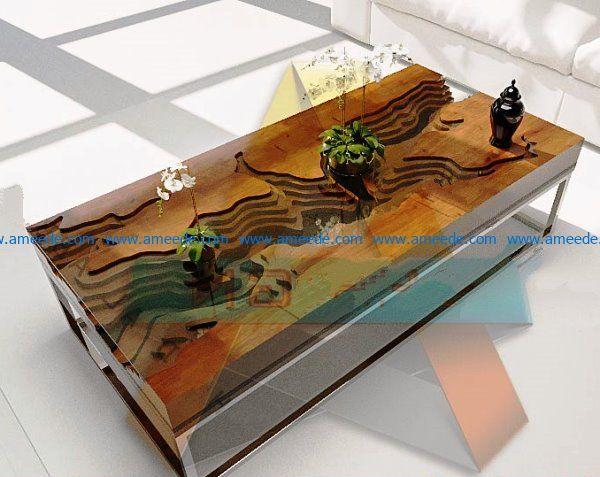 river table final file cdr and dxf free vector download for Laser cut