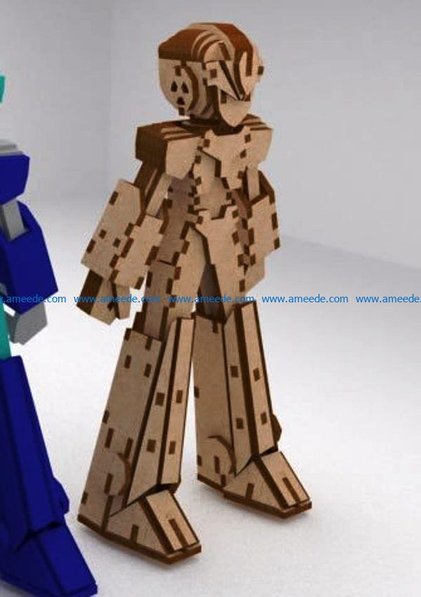 robot megaman file cdr and dxf free vector download for Laser cut