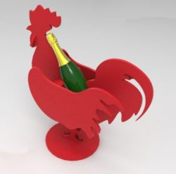 rooster bottle holder file cdr and dxf free vector download for Laser cut