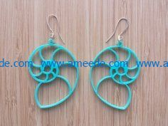 snails earrings file cdr and dxf free vector download for Laser cut