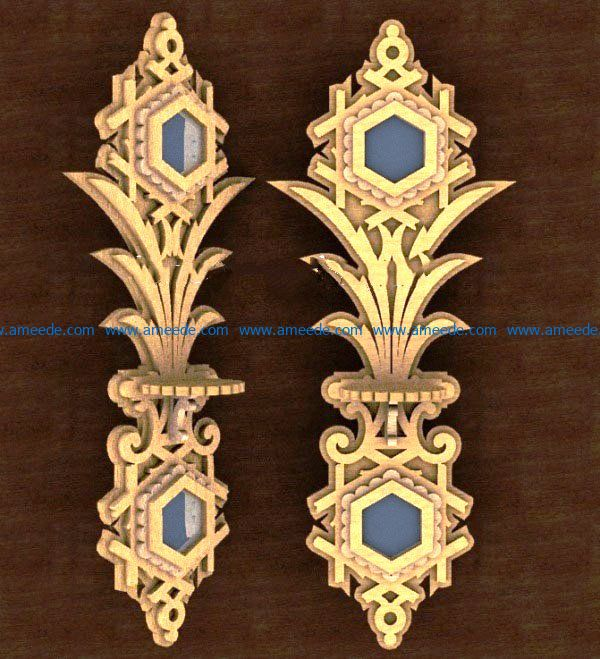 wall shelf with mirrors file cdr and dxf free vector download for Laser cut