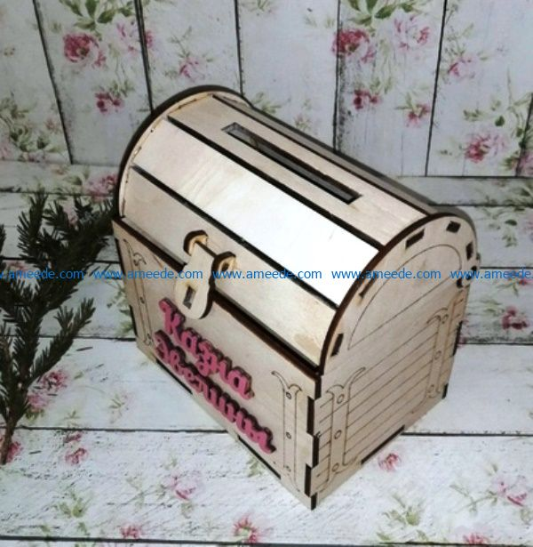 wooden chest file cdr and dxf free vector download for Laser cut