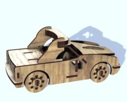 wooden race car file cdr and dxf free vector download for Laser cut