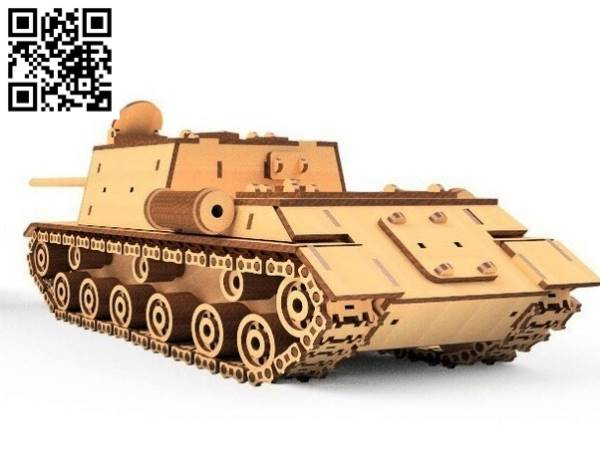 ISU 152 tank file cdr and dxf free vector download for Laser cut