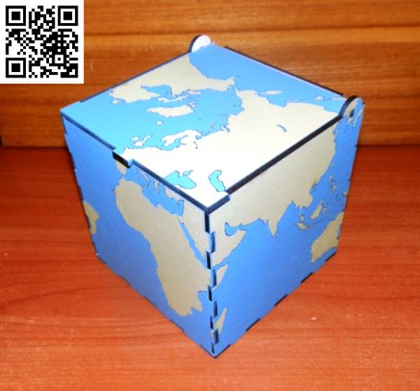square globe file cdr and dxf free vector download for Laser cut