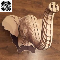 Elephant model file cdr and dxf free vector download for Laser cut