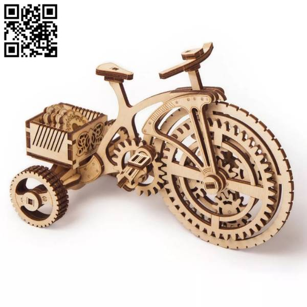 bicycle file cdr and dxf free vector download for Laser cut