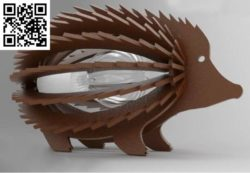 Porcupine lamp file cdr and dxf free vector download for Laser cut