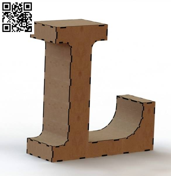 3d letter L file cdr and dxf free vector downloa