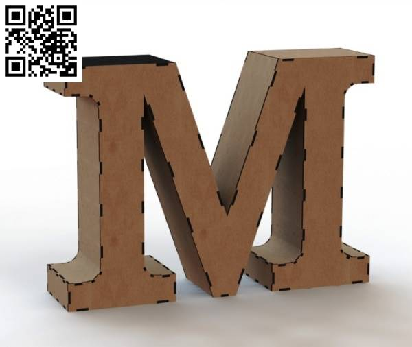 3d letter M file cdr and dxf free vector download for Laser cut