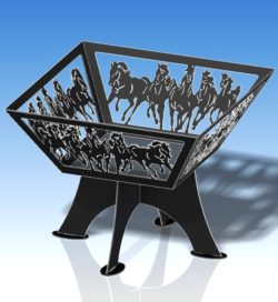 BBQ Grill Horse file cdr and dxf free vector download for Laser cut Plasma
