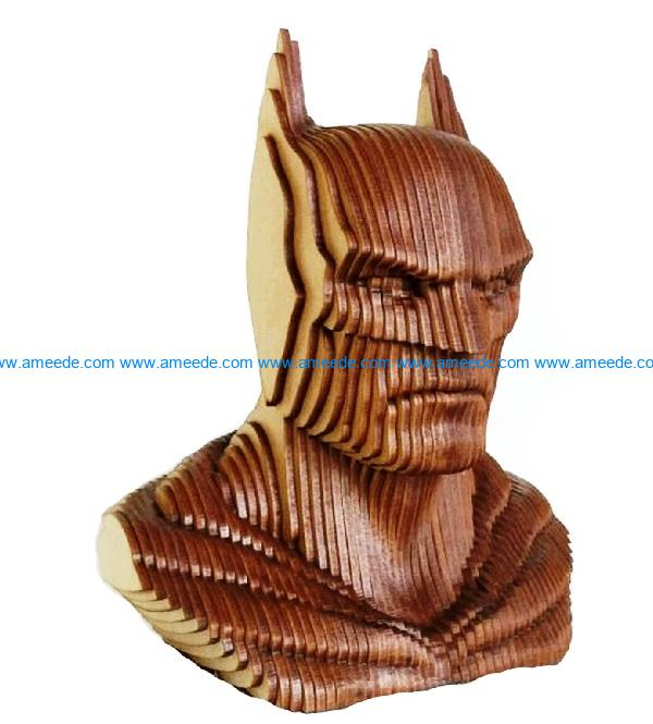 Bat man file cdr and dxf free vector download for Laser cut