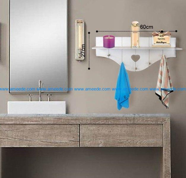Bathroom shelves file cdr and dxf free vector download for Laser cut