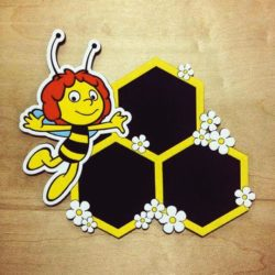 Bee photo frame file cdr and dxf free vector download for Laser cut