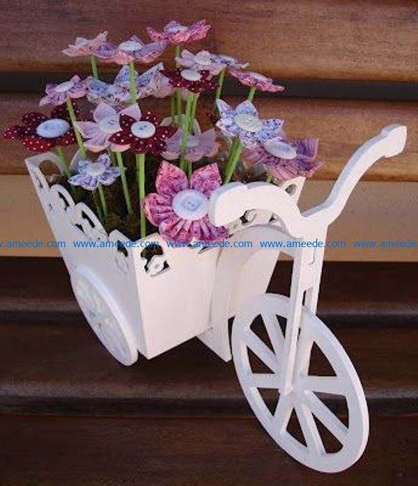 Bicycle flower basket file cdr and dxf free vector download for Laser cut