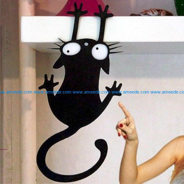 Black cat file cdr and dxf free vector download for Laser cut
