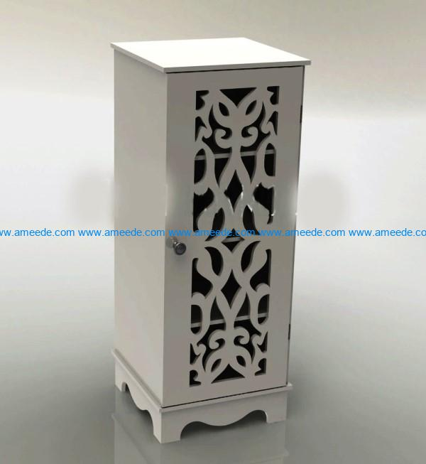 Cabinet with locks file cdr and dxf free vector download for Laser cut