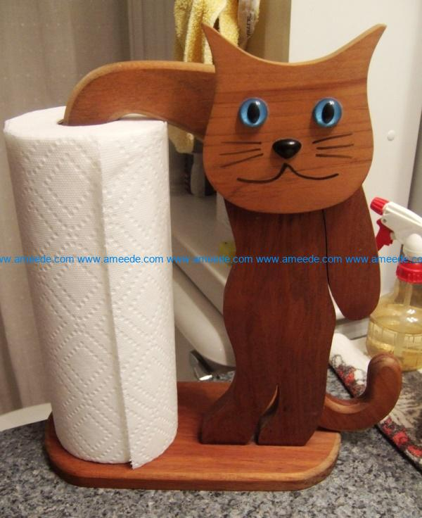 Cat paper holder file cdr and dxf free vector download for Laser cut