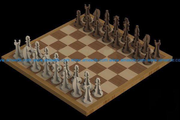 Chess file cdr and dxf free vector download for Laser cut ac