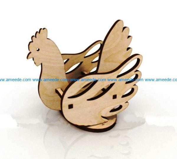 Chicken easter file cdr and dxf free vector download for Laser cut