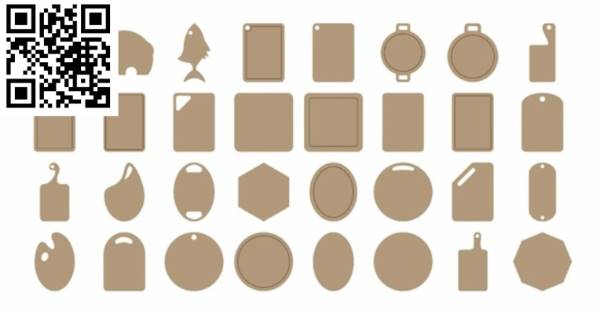 Chopping board file cdr and dxf free vector download for CNC cut