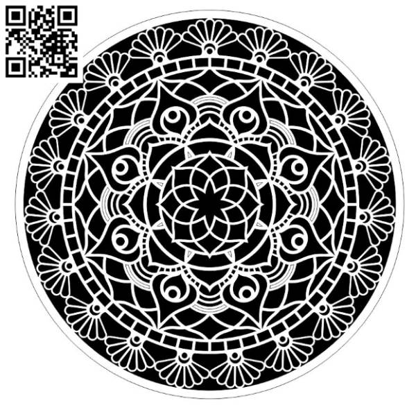 Circle Mandala file cdr and dxf free vector download for Laser cut
